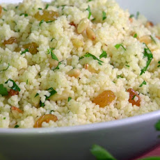 Herbed Couscous with Golden Raisins and Pine Nuts