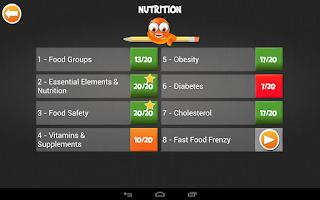 Screenshot of iTooch 6th Grade Health