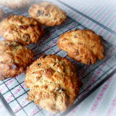 Cranberry, Ginger and White Chocolate Rock Cakes