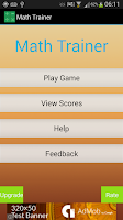 Screenshot of Math Trainer