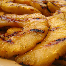 Grilled Pineapple With Rum Reduction Sauce