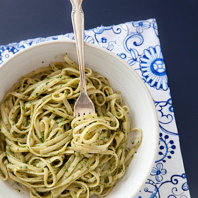 Kale and Sunflower Seed Pesto Pasta