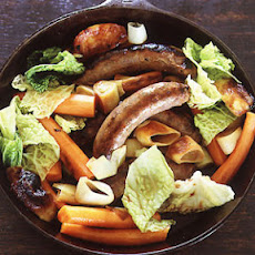 Venison Sausage Braised in Beer