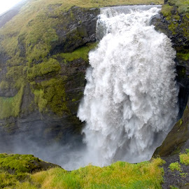 Powerful Icelandic Waterfall by Tyrell Heaton - Landscapes Waterscapes ( iceland, gopro, waterfall )