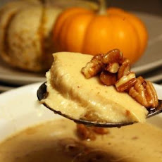 Spiced Custard Cups with Pecan Rum Sauce