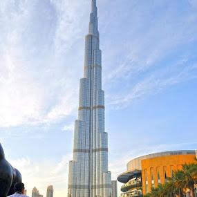 Burj Khalifa, Dubai  by Nazir Gohar - Buildings & Architecture Architectural Detail ( building, hdr, dubai, burj khalifa, nikon d90,  )