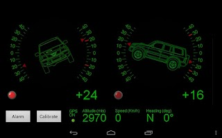 Screenshot of 4x4 Inclinometer PRO