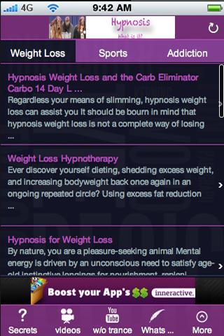 Hypnosis.