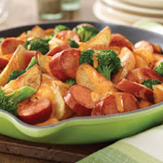 Potato, Broccoli & Smoked Sausage Skillet