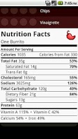 Screenshot of Chipotle Nutrition Calc