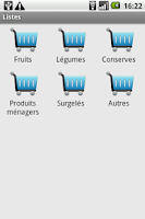 Screenshot of Liste de courses