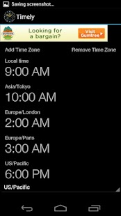 Timely World Time Converter - screenshot