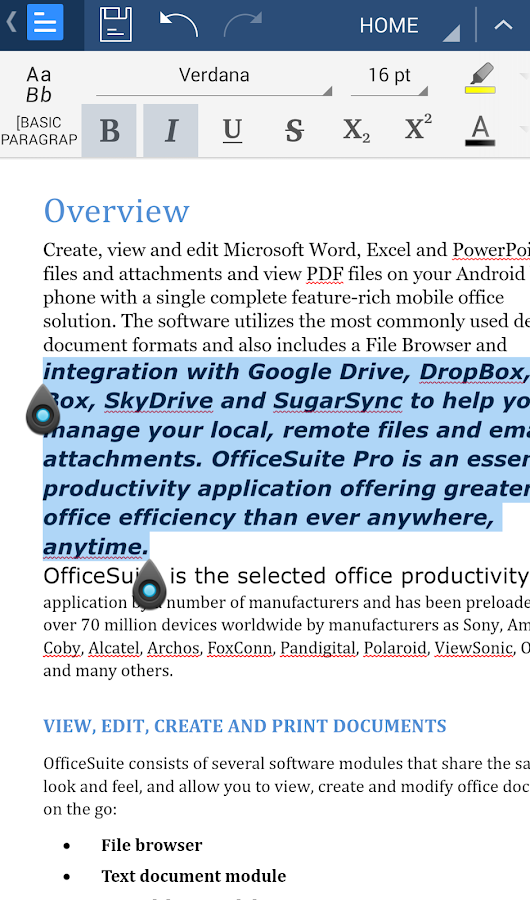 OfficeSuite Font Pack Screenshot 1