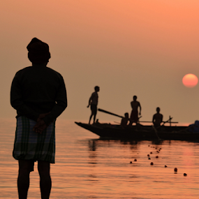 by Ajay Halder - Landscapes Sunsets & Sunrises ( water, device, transportation )