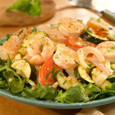 Mediterranean Roasted Vegetable & Shrimp Salad