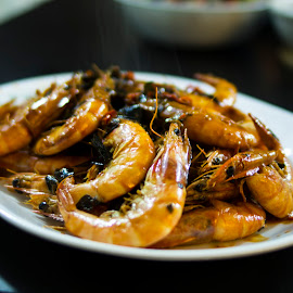 chinese new year by Elaina Edzahar - Food & Drink Cooking & Baking ( dinner, friends, family, seafood, shrimp, gathering, cooking, chinesenewyear, chinesenewyeareve, meal )