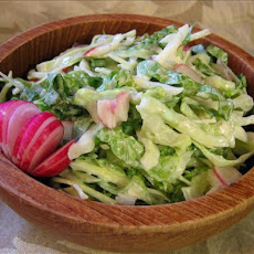 Honey Mustard Coleslaw With Radishes