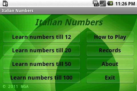 學習意大利語號碼