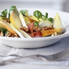 Chicory, Bacon & Pear Salad With Honey Dressing