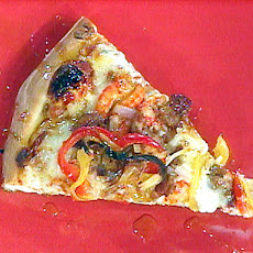 Crawfish and Hot Sausage Pizza