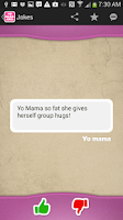 Screenshot of Yo Mama Jokes