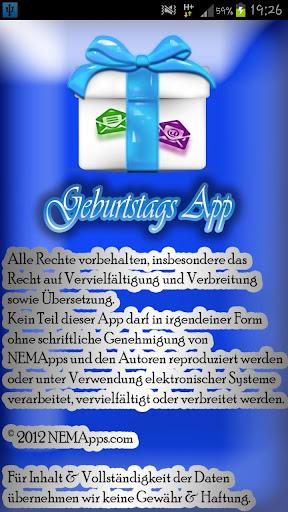 Geburtstags App