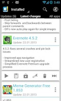Screenshot of Changelog Droid