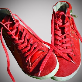 Red Footwear by Marco Bertamé - Artistic Objects Clothing & Accessories ( red,  )