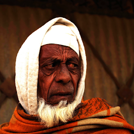 You dare look into his eyes by Shashwat Tyagi - Novices Only Portraits & People ( portraiture, muslim, villagers, old, old men, old man, portraits, people, eyes )