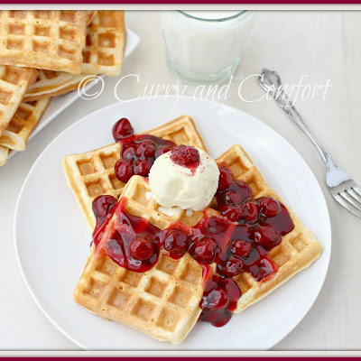 Cherry Pie Waffles A la Mode ‪#‎KitchenDrawerContest