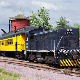 Excursion Train by Jim Czech - Transportation Trains ( railway, engine, railroad, locomotive, train, museum, passenger train,  )