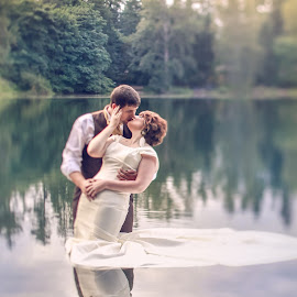 by Alicia Clifford - Wedding Bride & Groom ( bride and groom, trash the dress )