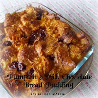 Pumpkin and Milk Chocolate Bread Pudding