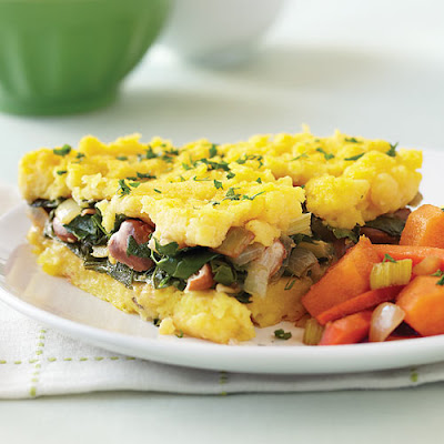 Polenta Pie with Sweet Potato & Carrot Caponata