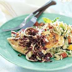 Chicken Breasts with Fennel-Mustard Butter and Radicchio