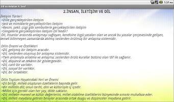 Screenshot of Dil ve Anlatım Dersi 9.Sınıf