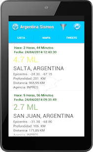 Argentina Sismos - screenshot