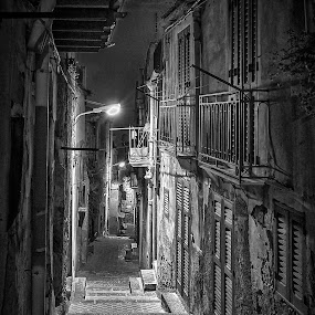 Night in Agrigento by Gabriel Catalin - City,  Street & Park  Street Scenes