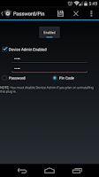 Screenshot of Secure Settings