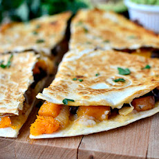 Black Bean & Butternut Squash Quesadillas with Lazy Girl's Guacamole