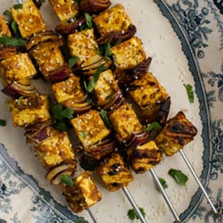 Grilled Vegan Coconut Curry Tofu Skewers