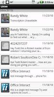 Screenshot of Listen Voicemail