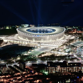 Cape Town stadium by Nikola Medjugorac - Travel Locations Landmarks ( concert, cape toen, stadium, night, soccer )