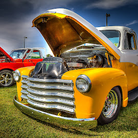 Two Toned Chevy by Ron Meyers - Transportation Automobiles