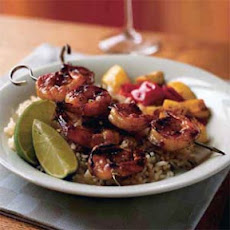 Spicy Passion Fruit-Glazed Shrimp