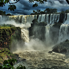 Iguaçu Falls by Marcos Sanchez - Landscapes Waterscapes ( iguaçu falls,  )
