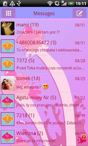 GO SMS Pro Cupcake Theme