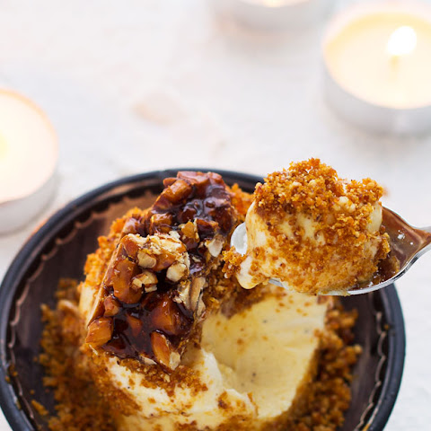 Hazelnut Praline Ice Cream Cake