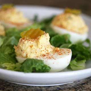 Deviled Eggs With Tuna.  Photo © Diana Rattray