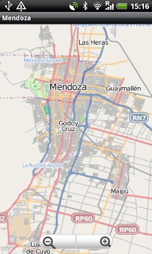 Mendoza Street Map